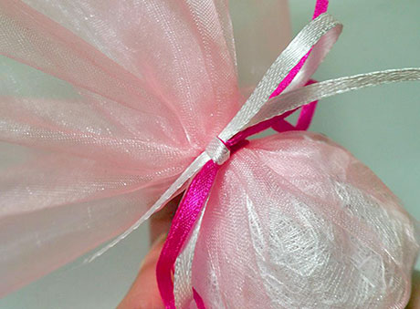 Μπομπονιέρα ροζ-φούξια