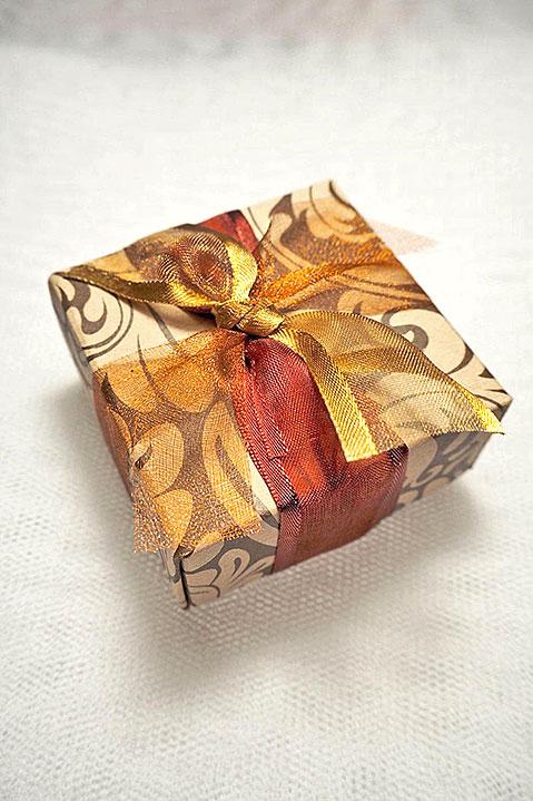 Μπομπονιέρα γάμου κουτί boho chic 815