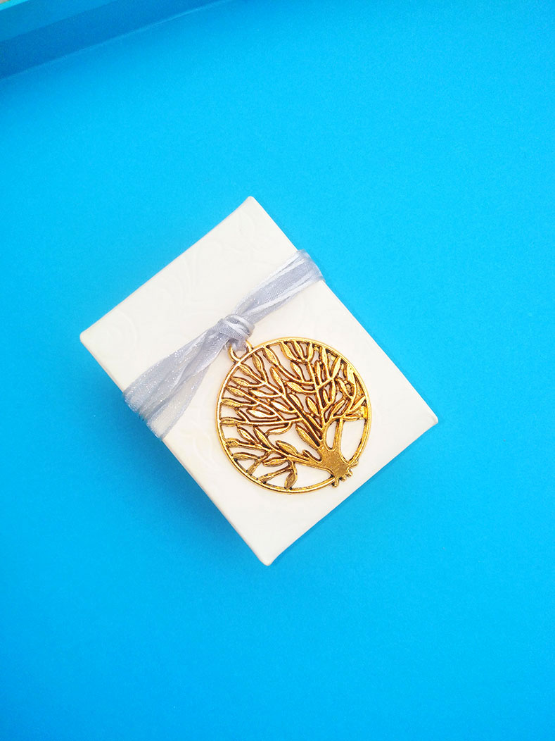 Μπομπονιέρα κουτάκι δέντρο ζωής