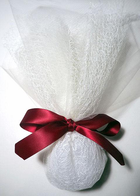 Οικονομική μπομπονιέρα γάμου κόκκινη 807