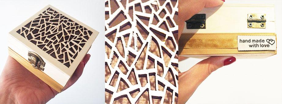 Μπομπονιέρα ξύλινο σκαλιστό κουτί