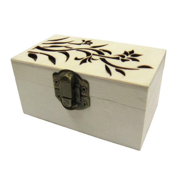 Ξύλινο κουτί πυρογραφία αλουστράριστο για μπομπονιέρα